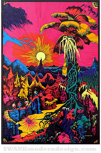 Day-glo Dreamscapes: Vintage Blacklight Posters of the ...
